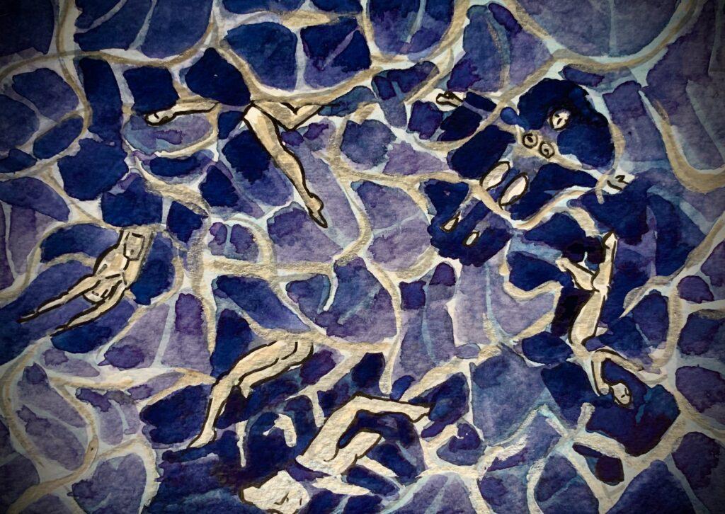 Nativi nuotano al largo di Malu Malu